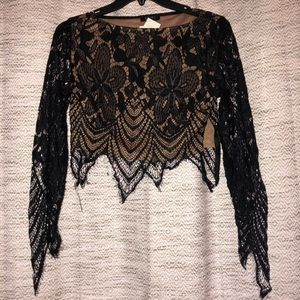Tops - NWT lace crop top